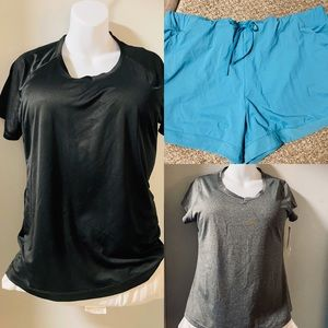 NWT XL activewear lot of 2 tops and 1 shorts
